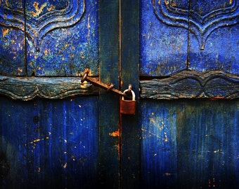 Blue door - City Photography - Travel Photography - Wall Art - Colorful Art