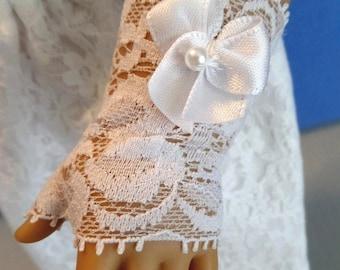 White Fingerless Lace Doll Gloves / First Communion / 18 Inch Doll Accessories / Doll Accessories / Fits American Girl Doll - 8000G