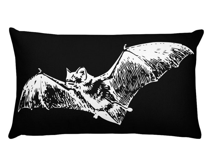 Bat Throw Pillow- Rectangular