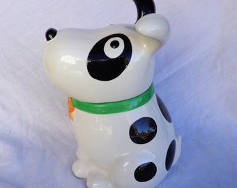 Cookie Jar  Dog with Circle Patch on Eye