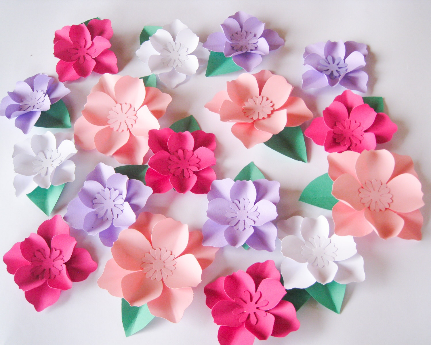 16 Paper Flowers Small Paper Flowers Wedding Arch Large