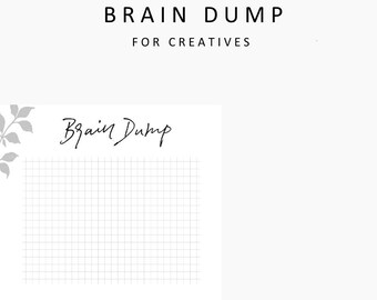 Brain Dump, student planner printable, printable planner, printables, hand lettering, creative, instant download, planner,productivity,ideas