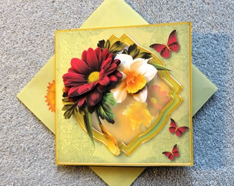 Handmade beauty of spring get well card.