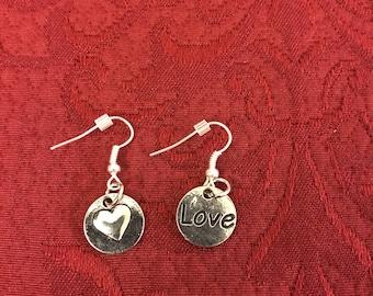 Love/heart earrings