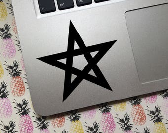Five-pointed Star vinyl decal - Choice of colors and sizes - Car decal, Laptop sticker, tablet decal, phone decal, travel mug, water bottle
