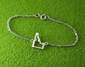 925 Sterling Silver Idaho Bracelet, Custom Idaho Bracelet, Personalized Map Bracelet, Anniversary Gift, Map jewelry,custom map jewelry