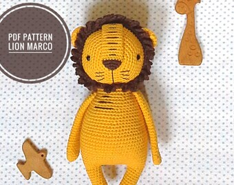 pdf instant download, pdf crochet pattern, crochet pattern, lion pattern, toy pattern, crochet toy, hook, toy, amigurumi pdf pattern