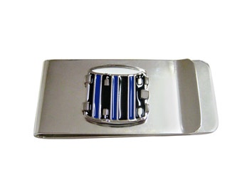 Blue and Black Drum Money Clip