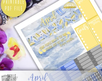 50% OFF! HAPPY PLANNER April Monthly View Kit – Printable Planner Stickers