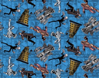 Doctor Who character toss Cotton fabric