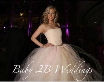Blush Bridal Skirt Wedding Separates Blush Tutu Skirt Blush Bridal Tulle Skirt Wedding Skirt Tutu Skirt Beige Tutu Skirt Pink Tutu Skirt