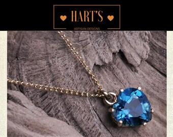 London Blue Topaz 14K Gold Necklace