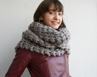 Milky Brown Wool Big Extra Long Scarf Perfect Gift Under Usd 100 For Women Gift For Her Friend Christmas Gift Outdoors Gift