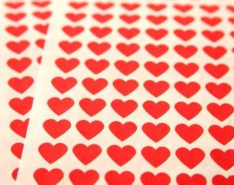 108 Red Heart Stickers - FREE SHIPPING with other purchase