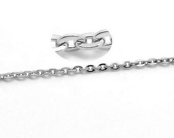 2 meters of chain in stainless steel 2 x 1.5 mm