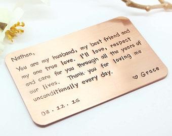 Mens gift, Boyfriend gift, Wallet insert- Anniversary Gifts for men, Boyfriend Christmas Gift, Husband Gift- Christmas Gift for men