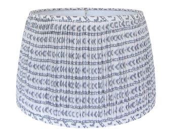 Boho Lamp Shade, Shirred Lampshades for Table Lamp, Indian Block Print Lampshade,  Gathered Lamp Shade, Gray Lamp Shades, Multiple Sizes