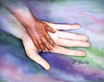 NEW Large and Small Hand 5x7 adoption print