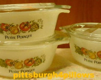 New Listing - Fire King - Petite Potager - 472 - 12 Oz. - 470 Lid - All In EUC