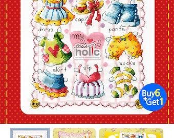 SO-373  Paper Dressroom, One love, sodastitch cross stitch chart