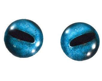 Octopus Glass Eyes - 16mm - Glass Eyes - Blue