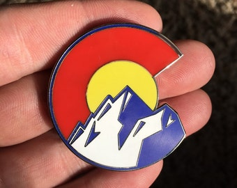 Colorado Mountains Pin Silver