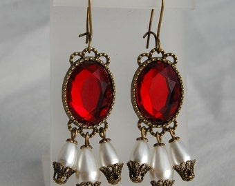 Renaissance Earrings, Medieval Elizabethan Tudor Earrings, for Faire Halloween Cosplay Game of Thrones Dress Gown