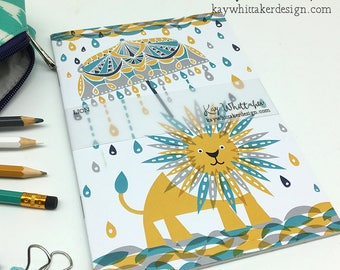 Sun Lion A5 Notebook Sketchbook Journal
