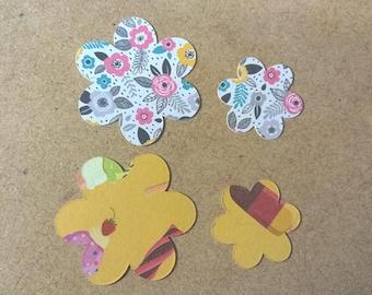 Card Flower embellishments x 50 pieces