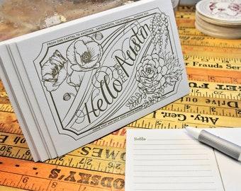 Hello Austin Letterpress Postcard