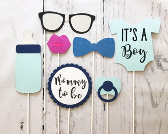 BOW TIE THEME - Photo Booth Props - Bowtie Baby Shower Theme - Bow Tie Baby Shower Theme - Bowtie Photo Booth Props - Bowtie Photobooth -