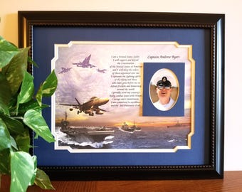 Navy Gifts Personalized, Navy Creed, Navy Frame, Navy Veteran, Navy Gift, Gift for Navy, Military Gift, Retired Navy, Military Frame, Navy