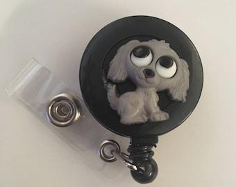 Retractable badge holder, Puppy, Medical office nurse badge