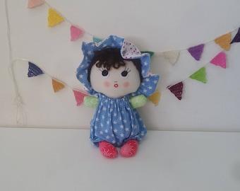 Baby Choo, rag doll,  baby doll, cloth doll, soft doll, fabric doll