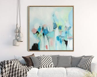 Blue Abstract Art Print, Giclee Print,  Abstract Painting, Modern Art , Fine Art Print, Contemporary Art, Abstract Landscape, Wall Decor