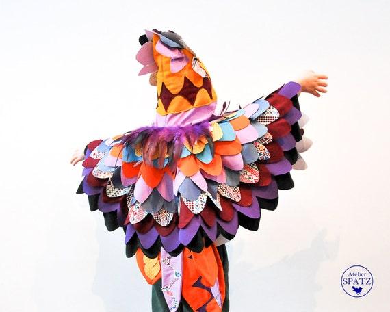 Kids Parrot Costume Bird Of Paradise Cape