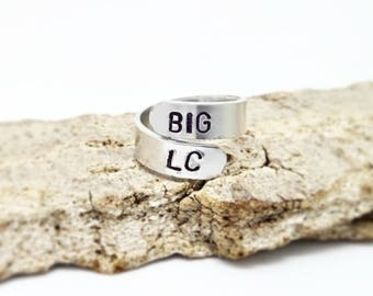 Personalized rings, Engraved rings, Spiral name rings, Name rings, Birth date rings, stacking rings, coordinates ring, couple rings