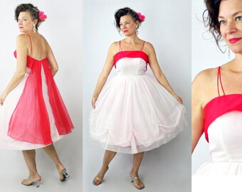 1950s Dress / 50s Dress / Party Dress / Prom Dress / Formal Dress / Evening Dress / 1950s Prom Dress / Dress / 50s Prom Dress / Waist 22-23""