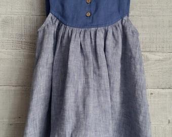 Linen dress for a girls,elegant dress,holiday dress,french dress.