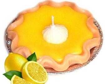3 Inch Lemon Pie Candle Zesty Lemon Scent Hostess Gift
