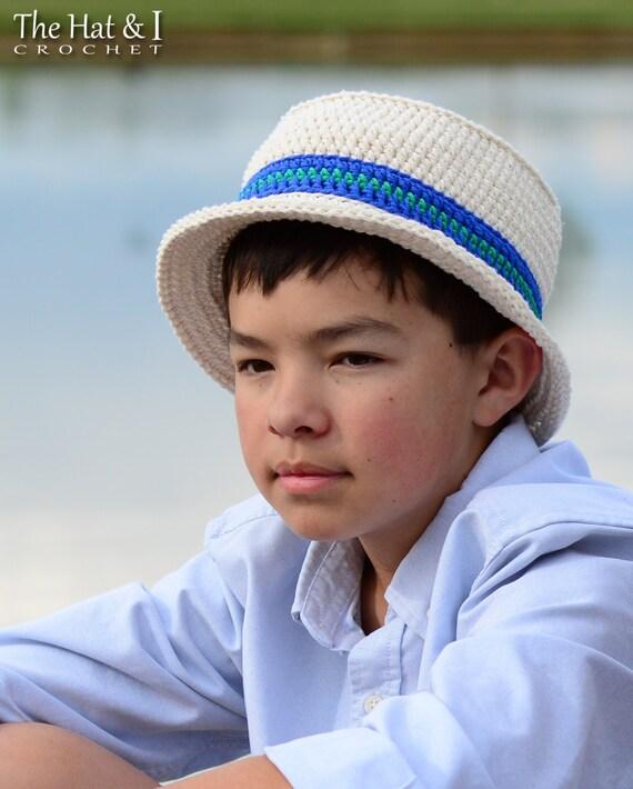 Crochet Hat PATTERN Cabana Boy Hat crochet pattern for