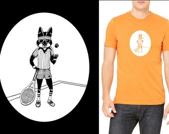 T-shirt - Richie Fox graphic inspired by Wes Anderson's, Richie Tenenbaum and The Fantastic Mr. Fox.