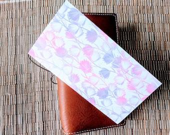 Pastel Watercolor Flowers Traveler's Notebook Insert | Midori Insert | TN Insert | Fauxdori | Tomoe River | A5 B6 Passport Standard Pocket