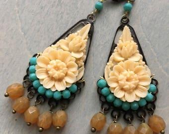 Frida Earrings  /cream&honey