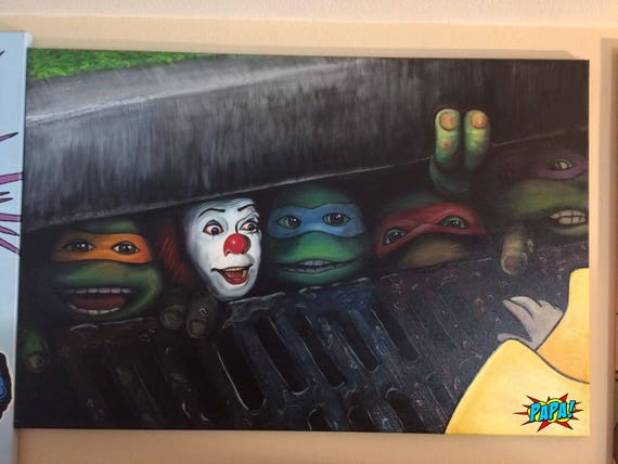 Pennywise Clown Stephen King S It With Teenage Mutant