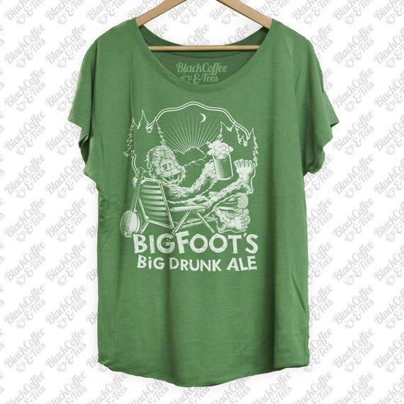 Craft Beer Shirt - Womens St Patricks Day Shirt -Bigfoot Shirt- Sasquatch Shirt -Womens Beer Shirt -Big Drunk Ale Printed on a Womens Dolman