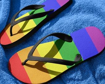 Gay Pride , LGBT Clothing, LGBT Pride, LGBTQ Pride, Lesbian Pride, Gay Pride Flip Flops, Rainbow Flip Flops, Gay Pride, Flip Flops