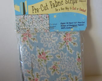 """Pre-Cut 1/2"""" Fabric Strips, Total of 80 yards, Knit, Crochet or Gift Wrap. 100% Cotton"""