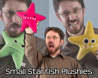 Small Starfish Fleece Plush - Many Colors