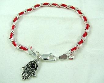 Original Kabbalah Red String Bracelet with Hamsa Charm